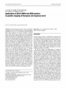 Application of AFLP, RAPd and ISSR markers to genetic mapping of European and Japanese Larch